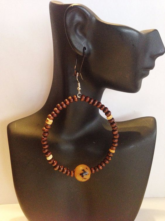 African Inspired Earrings and Bracelet set by UniqueDesignsbyZee, $30.00