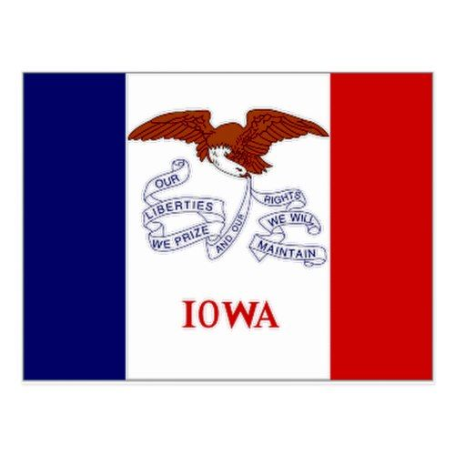 United States Iowa Flag Postcard Neoplex State Flags Us States Flags