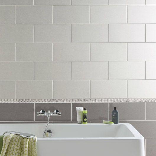 Carrelage mural trend aero en fa ence gris 20 x 40 cm for Carrelage 40x40
