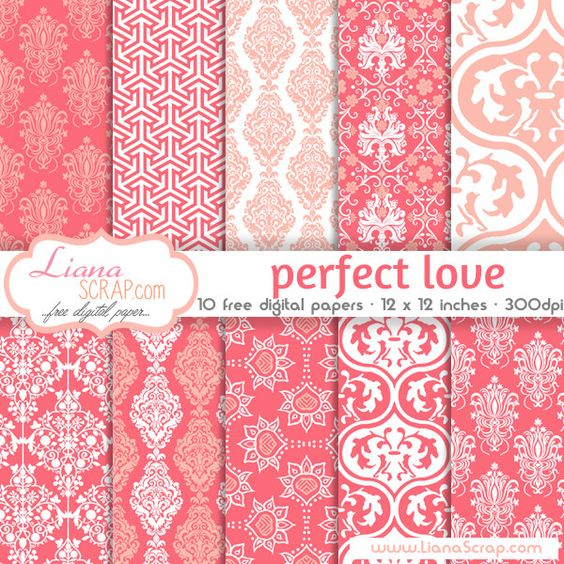 Free digital paper pack – Perfect Love Set - http://www.lianascrap.com/free-digital-paper-pack-perfect-love-set/