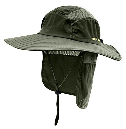 Home Prefer Mens Upf 50 Sun Protection Cap Wide Brim Fishing Hat With Neck Flap Army Green All4hiking Com Fishing Hat Hats For Men Mens Sun Hats