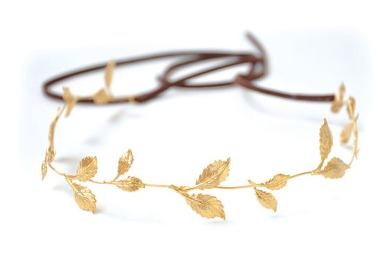 Fall Is Here, Gentle Leafs Tiara, Bridal Hair accessory, Hair Wreath, gold Leaf Crown, Wedding Headband, Roman, Greek Goddess Headband