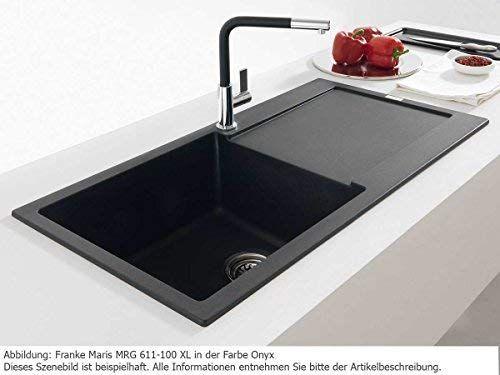 Franke Maris Mrg 611 100 Xl Onyx Schwarz Granit Spule Spulbecken