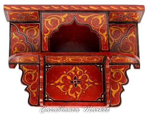 Hand Painted Wood Shelf, Red Casablanca Market http://smile.amazon.com/dp/B004BVG080/ref=cm_sw_r_pi_dp_3d6Itb13JJFA1KKG