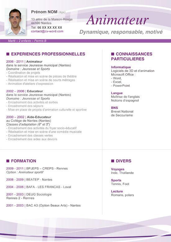 Modèle Cv Original Assistant De Direction … | Pinteres…