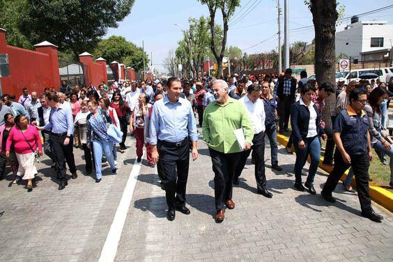 El Ejecutivo y el alcalde de la capital inauguraron la modernización de la Avenida 18 poniente, con una inversión de 9.1 millones de pesos  Supervisó la edificación de la estación del Tren Turístico Puebla–Cholula y el mejoramiento de la imagen urbana de la entrada al Museo del Ferrocarril