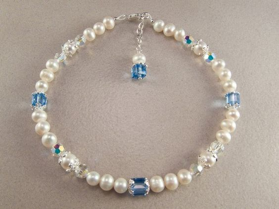 Something Blue Sterling Silver Freshwater by KrisTsCreations, $45.00