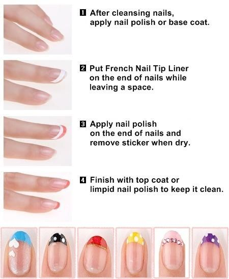 How to remove french polish nails