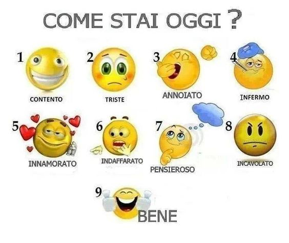 Come Stai Oggi?  (how are you today)    -
