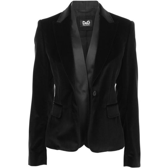 D Velvet Double Blazer ($605) ❤ liked on Polyvore