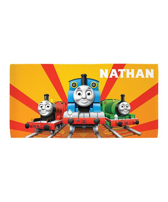 Thomas & Friends Sunset Personalized Beach Towel