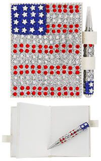 Star Spangled Notebook & Pen Set at The Veterans Site