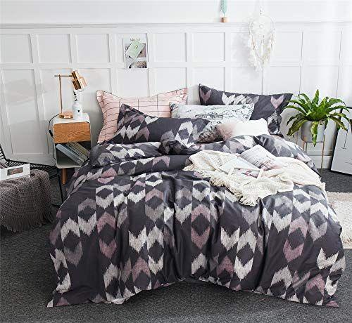 Cenarious Checkered Grey Pink American Style Scandinavian Duvet Cover Set Cotton Flat Sheet Or Fitted Sh Bedding Set Scandinavian Duvet Covers Duvet Cover Sets