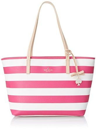 I love this beachy handbag! Perfect Mother's Day gift! #handbag #pink&white
