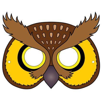 Owl Mask Template Owl mask printable