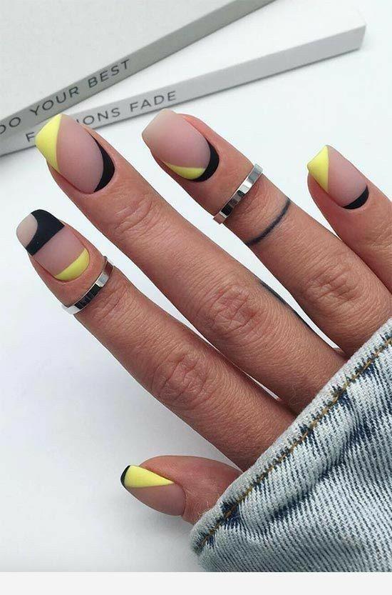 Matte Yellow And Black Matte Nail Polish Colors Matte Nail Colors Matte Nails