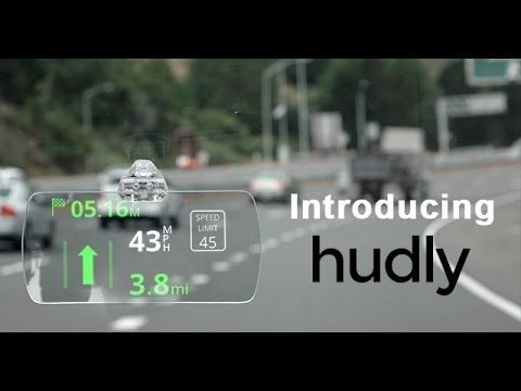 Hudly Wireless is a Portable HUD for Your Car Whoopzz