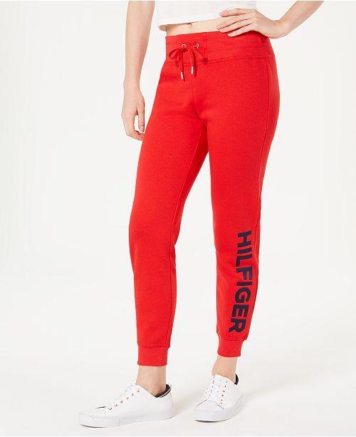 Tommy Hilfiger Logo Jogger Sweatpants Pants Women Macy S Sweatpants Jogger Sweatpants Womens Sweatpants