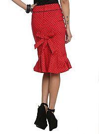 HOTTOPIC.COM - Hell Bunny Momo Red Polka Dot Skirt