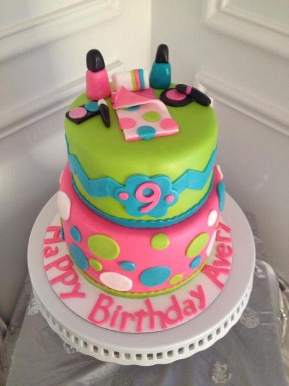 Spa Sleepover Birthday Cake! - Cake by Jennifer