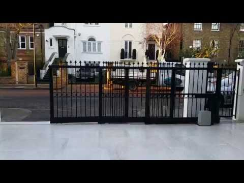 Telescopic Sliding Gates London Youtube Sliding Gate Front Gate Design Gate Design