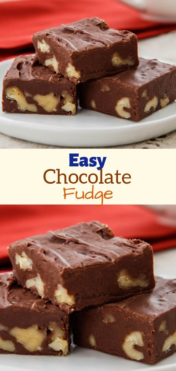 Easy Chocolate Fudge Easy Chocolate Fudge Recipe With Sweet Condensed Milk Fudge Recipes Easy