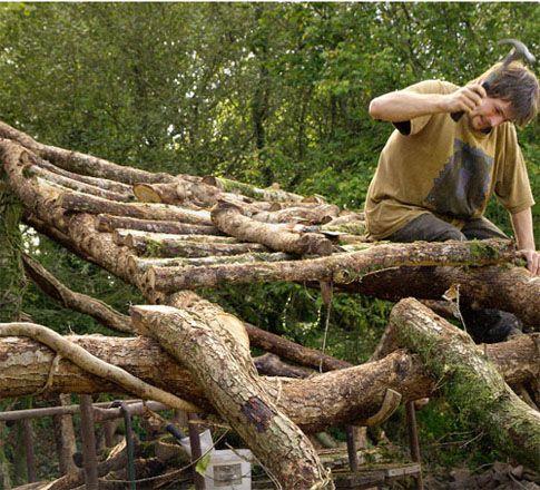 Reaproveitamento e utilização  do que a floresta oferece em descarte....