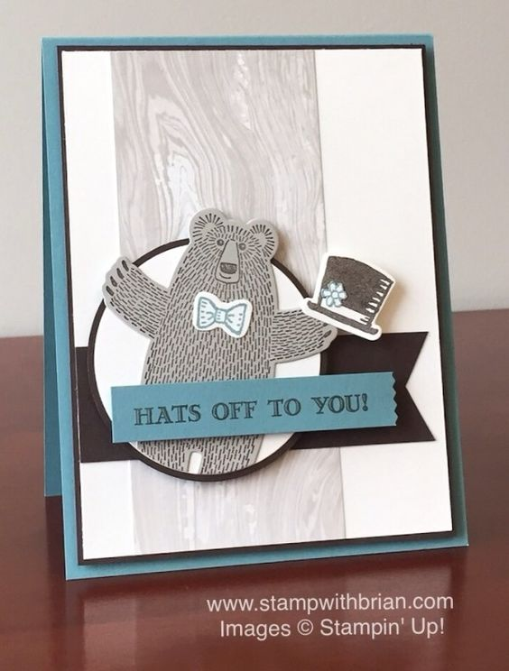 Bear Hugs, Guy Greetings, Snow Place, Stampin' Up!, Brian King, PP279: