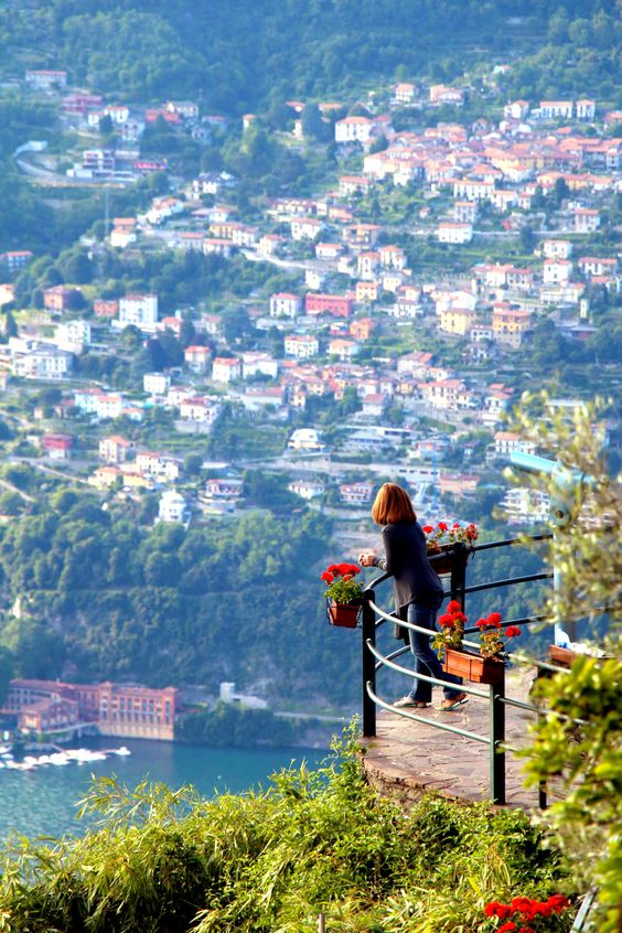 Lake como from Brunate, Italy.