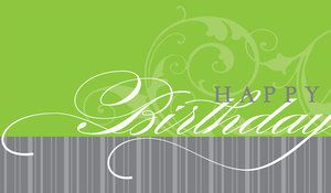 Modern strokes and a faint flourish, a snazzy 'Happy Birthday' card available from Greeting Card Collection.