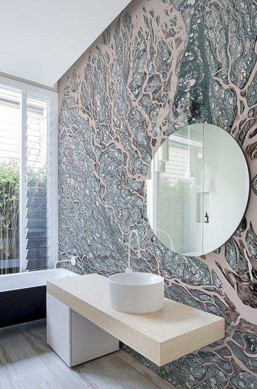 Contemporary Wallpaper Wall Deco Badezimmer Renovieren Deko Wand Tapeten