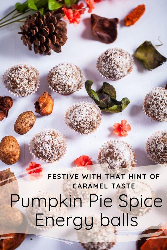 Pumpkin Pie Spice Energy Balls