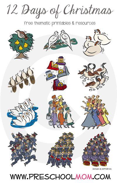 Christmas preschool printables 12 days of christmas for Christmas themed activities for kids