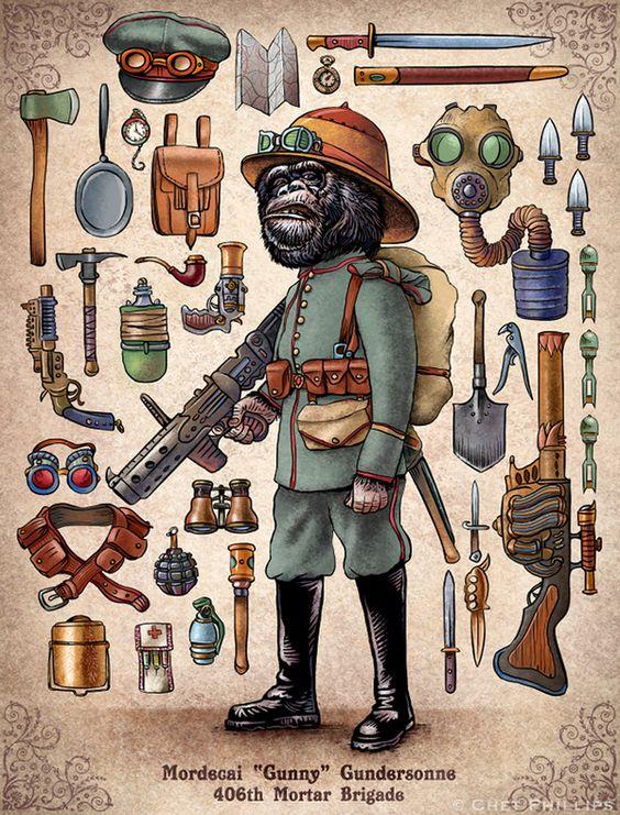 Steampunk Monkeys 01