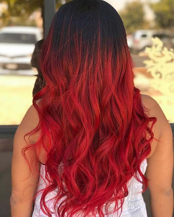 Black And Red Ombre Hair Hair Color For Black Hair Red Ombre Hair Ombre Hair Color