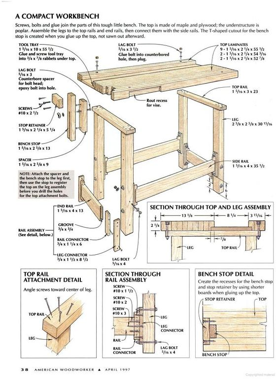 American Woodworker Google Books WoodworkingWorkbenchesTables And Saw Horses Pinterest