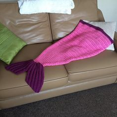 Ravelry: Chunky Yarn - Child's Mermaid Tail Blanket pattern by Lizzie Attwell