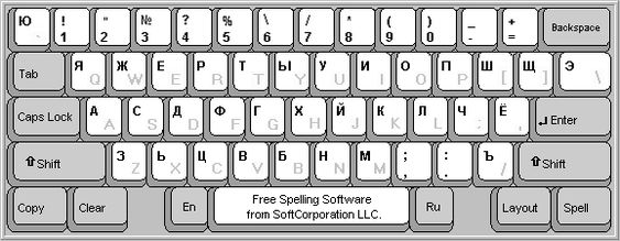 Russian Keyboard OnLine with Spell Check (On-Screen Cyrillic Virtual Keyboard)