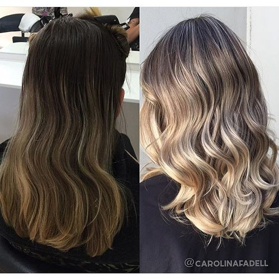 Before And After Bronde Lift. Color by @carolinafadell  #hair #hairenvy #haircolor #bronde #highlights #newandnow #inspiration #maneinterest