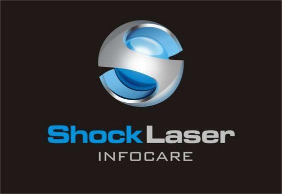 Logo Shock Laser, loja de informatica  Presidente Prudente SP • 2008