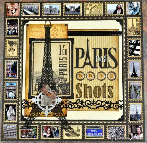 Paris Travel Graphic 45 paper scrapbook layout