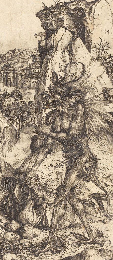 Master L.Cz. - The Temptation of Christ, ca. 1500