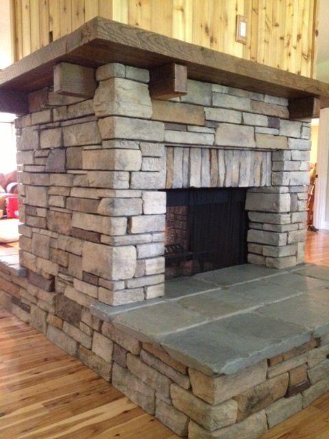 Reclaimed Oak Wrap Around Fireplace Mantel Fire Place