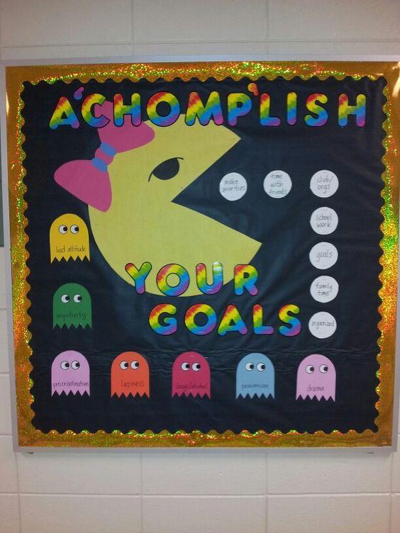 Goal settings bulletin boards and school bulletin boards for Board of ideas