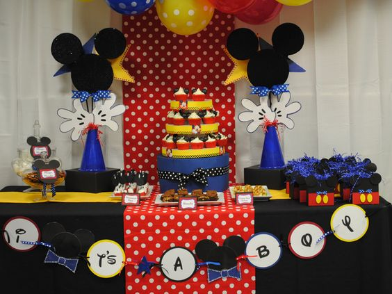 Mickey mouse birthday party ideas baby shower themes for Baby mickey mouse decoration