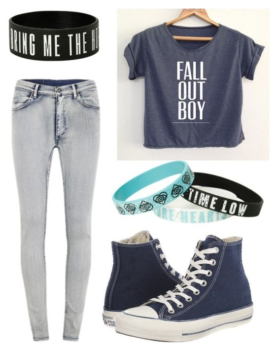 Bands by stray-arrow on Polyvore featuring polyvore, fashion, style, Cheap Monday, Converse and clothing