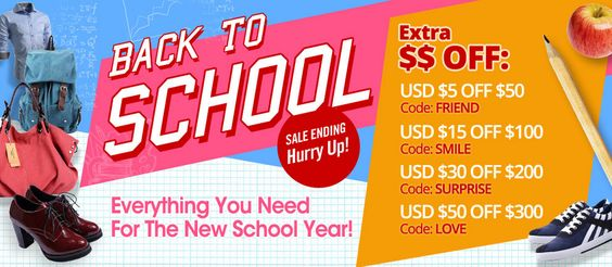 Back-to-school final sales ends so soon, so catch the chance!