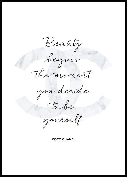 Pin By Mc 2 0 On Papier Foil Coco Chanel Quotes Chanel Poster Coco Chanel Poster