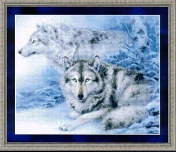Wild Animal Cross Stitch Patterns Free | soulmates wolf cross stitch pattern by kustom krafts stitching the ...