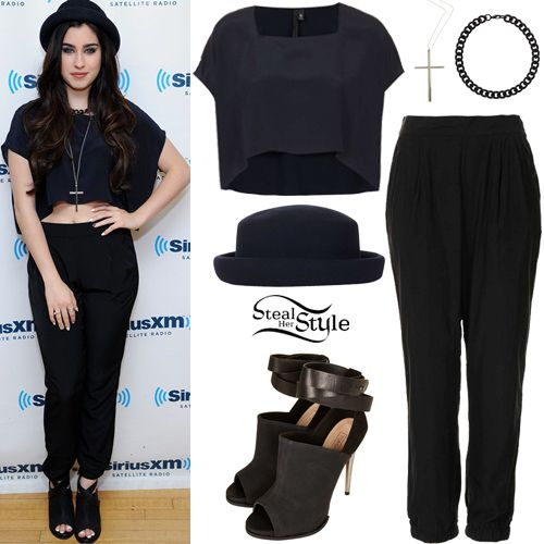 Fifth Harmony at SiriusXM Studio \u2013 Lauren Jauregui in an all Topshop outfit.